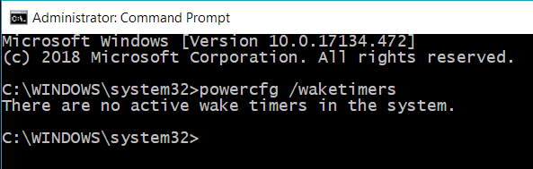 powercfg waketimers