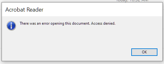 There was an error opening this document. Access denied.